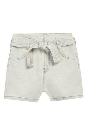 Детские джинсовые шорты LES COYOTES DE PARIS голубого цвета, арт. 111-32-053   Фото 1