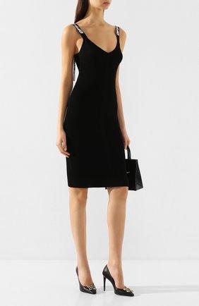 Женское платье OFF-WHITE черного цвета, арт. 0WHI022R20H330681000 | Фото 2