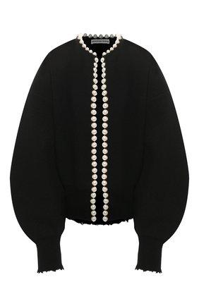 Женский шерстяной кардиган ALEXANDER WANG черного цвета, арт. 1KC1201075 | Фото 1