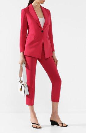 Женские шерстяные брюки THEORY фуксия цвета, арт. H0101234 | Фото 2