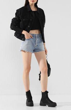 Женская джинсовая куртка AGOLDE серого цвета, арт. A5010-1157 | Фото 2