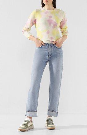 Женские джинсы AGOLDE голубого цвета, арт. A140B-1141 | Фото 2