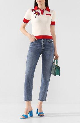 Женские джинсы AGOLDE голубого цвета, арт. A045-1206 | Фото 2
