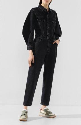 Женский джинсовый комбинезон AGOLDE серого цвета, арт. A8011-1157 | Фото 2