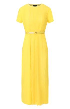 Женское платье ERMANNO ERMANNO SCERVINO желтого цвета, арт. 46T AB17 GIS   Фото 1