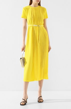 Женское платье ERMANNO ERMANNO SCERVINO желтого цвета, арт. 46T AB17 GIS   Фото 2
