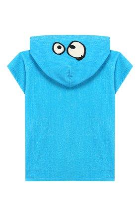 Детского пляжное пончо STELLA MCCARTNEY голубого цвета, арт. 588604/S0JE5 | Фото 2