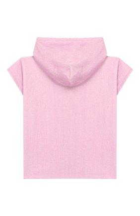 Детского пляжное пончо STELLA MCCARTNEY розового цвета, арт. 589059/S0JE6 | Фото 2