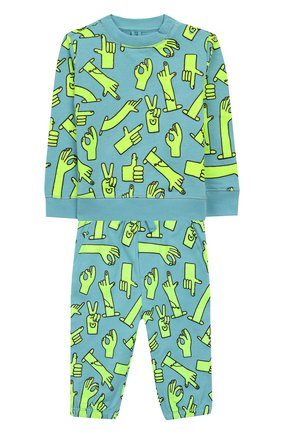 Детский комплект из свитшота и брюк STELLA MCCARTNEY голубого цвета, арт. 600138/S0JC7 | Фото 1