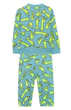 Детский комплект из свитшота и брюк STELLA MCCARTNEY голубого цвета, арт. 600138/S0JC7 | Фото 2