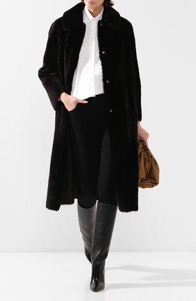 Женская дубленка GIORGIO ARMANI черного цвета, арт. 5AL05P/5AP05 | Фото 2