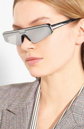 Мужские солнцезащитные очки BALENCIAGA черного цвета, арт. 570483/T0001 | Фото 2