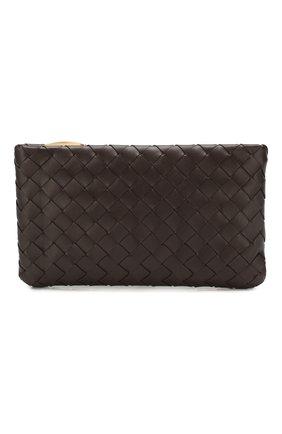 Женские кожаный футляр для документов BOTTEGA VENETA темно-коричневого цвета, арт. 608230/VCPP2 | Фото 1