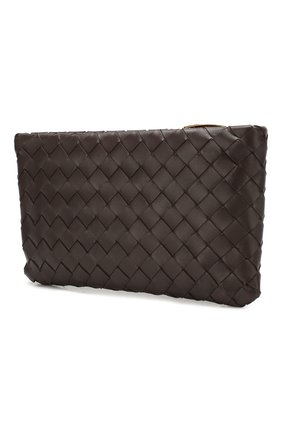 Женские кожаный футляр для документов BOTTEGA VENETA темно-коричневого цвета, арт. 608230/VCPP2 | Фото 2