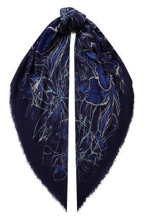Женская шаль из смеси кашемира и шелка LORO PIANA синего цвета, арт. FAI9818 | Фото 1