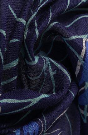 Женская шаль из смеси кашемира и шелка LORO PIANA синего цвета, арт. FAI9818 | Фото 2
