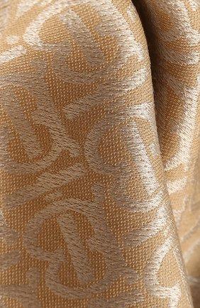 Женская шаль из смеси шелка и шерсти BURBERRY бежевого цвета, арт. 8022010 | Фото 2