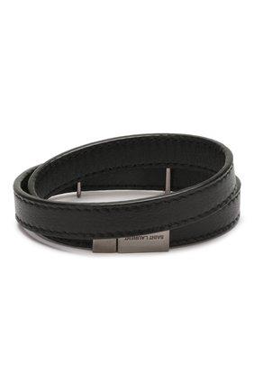 Женский кожаный браслет SAINT LAURENT черного цвета, арт. 536073/B000R | Фото 2