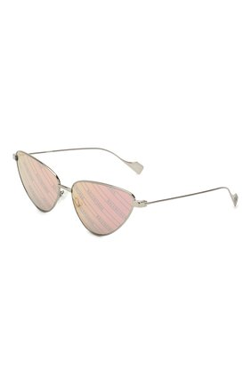Мужские солнцезащитные очки BALENCIAGA темно-серого цвета, арт. 609375/T0005 | Фото 1