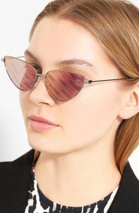 Мужские солнцезащитные очки BALENCIAGA темно-серого цвета, арт. 609375/T0005 | Фото 2