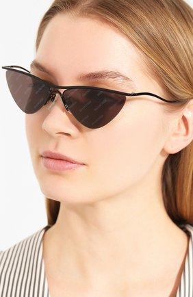 Мужские солнцезащитные очки BALENCIAGA черного цвета, арт. 609380/T0005 | Фото 2
