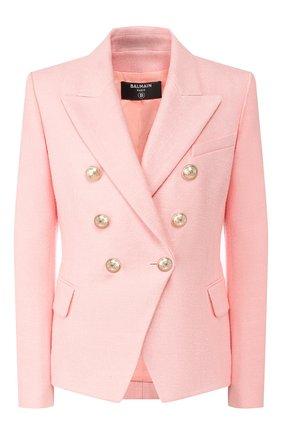 Женский жакет BALMAIN розового цвета, арт. TF17110/V090 | Фото 1