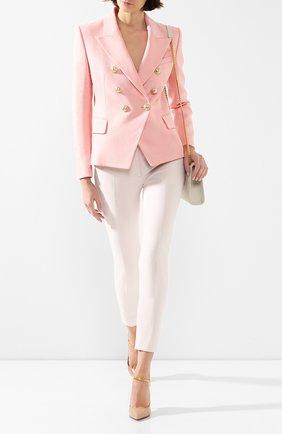 Женский жакет BALMAIN розового цвета, арт. TF17110/V090 | Фото 2
