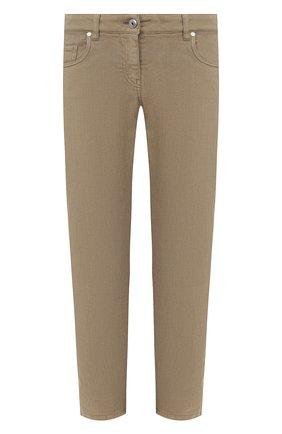 Женские джинсы BRUNELLO CUCINELLI хаки цвета, арт. MH137P5491 | Фото 1
