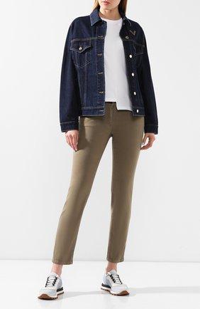 Женские джинсы BRUNELLO CUCINELLI хаки цвета, арт. MH137P5491 | Фото 2
