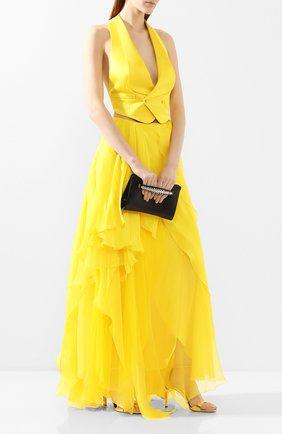 Женский шелковый жилет RALPH LAUREN желтого цвета, арт. 290784811 | Фото 2
