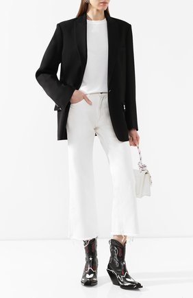 Женский жакет OFF-WHITE черного цвета, арт. 0WEF032R205150681000 | Фото 2