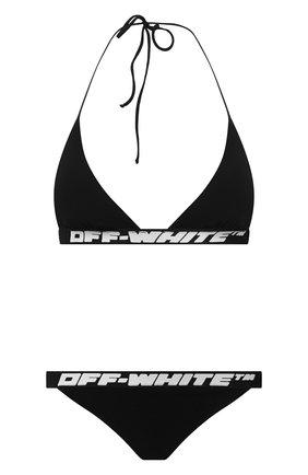 Женский раздельный купальник OFF-WHITE черного цвета, арт. 0WFA018R207650681000 | Фото 1