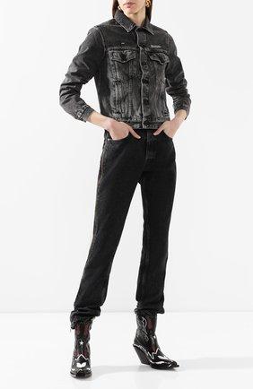 Женская джинсовая куртка OFF-WHITE темно-серого цвета, арт. 0WYE012R207740687500 | Фото 2