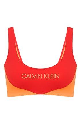 Женский бра-бандо CALVIN KLEIN красного цвета, арт. KW0KW00839 | Фото 1