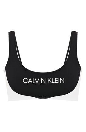 Женский бра-бандо CALVIN KLEIN черного цвета, арт. KW0KW00839 | Фото 1