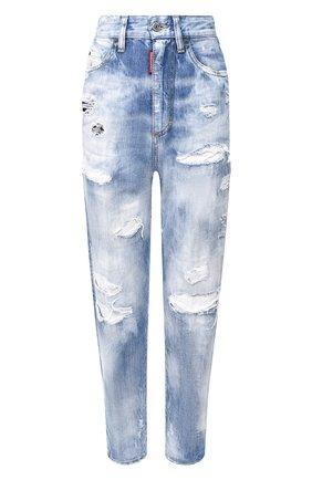 Женские джинсы DSQUARED2 синего цвета, арт. S72LB0305/S30309 | Фото 1