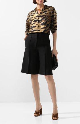 Женская шелковая блузка DSQUARED2 коричневого цвета, арт. S72DL0648/S52758 | Фото 2