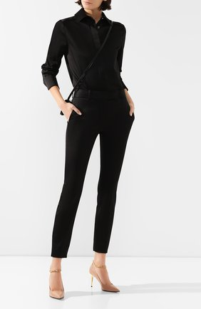 Женские хлопковые брюки со штрипками TOM FORD черного цвета, арт. PAW302-FAX615 | Фото 2