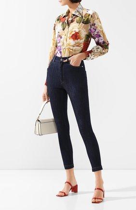 Женские джинсы DOLCE & GABBANA синего цвета, арт. FTB0QD/G899V | Фото 2