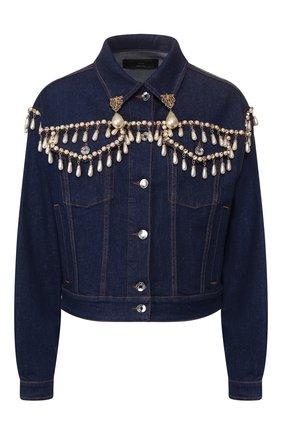 Женская джинсовая куртка DOLCE & GABBANA синего цвета, арт. F9H05Z/G899U | Фото 1