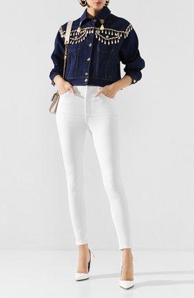 Женская джинсовая куртка DOLCE & GABBANA синего цвета, арт. F9H05Z/G899U | Фото 2