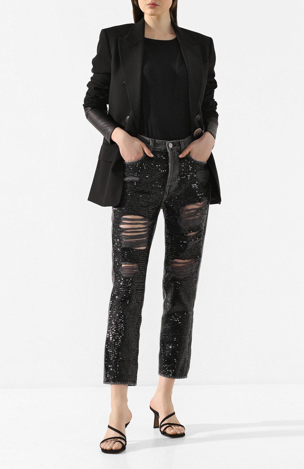 Женские джинсы FRAME DENIM серого цвета, арт. SQJN252 | Фото 2