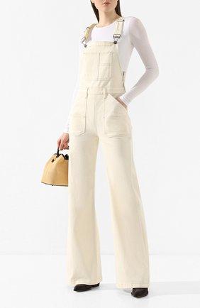 Женский джинсовый комбинезон FRAME DENIM белого цвета, арт. CCJMP781 | Фото 2