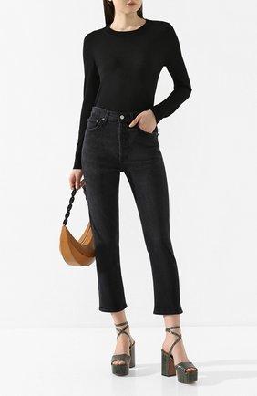 Женские джинсы AGOLDE черного цвета, арт. A056B-1084 | Фото 2