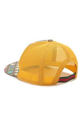 Детская бейсболка GUCCI желтого цвета, арт. 481757/4HJ82 | Фото 2