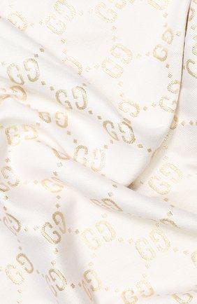 Детский платок GUCCI белого цвета, арт. 574742/4K721 | Фото 2