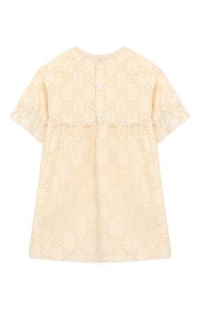 Женский хлопковое платье GUCCI белого цвета, арт. 595367/ZABI8 | Фото 2