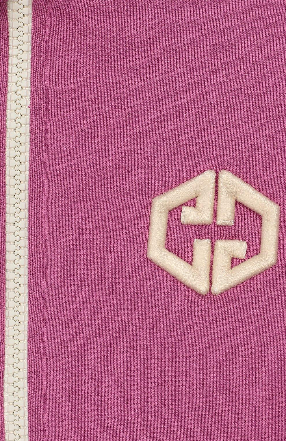 Детский хлопковая толстовка GUCCI розового цвета, арт. 596146/XJB8Z | Фото 3