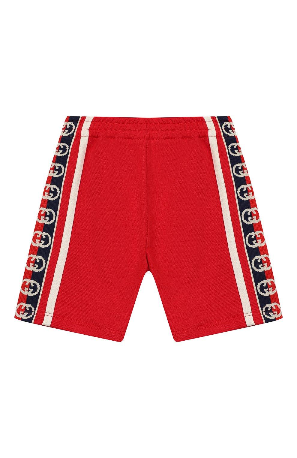 Детские хлопковые шорты GUCCI красного цвета, арт. 600053/XJB4G | Фото 1