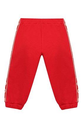Детские хлопковые джоггеры GUCCI красного цвета, арт. 600054/XJB4G | Фото 2
